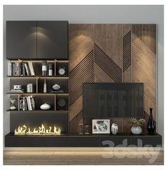 Tv Unit Interior Design, Tv Wall Design, Tv Cabinet Design Modern, Tv Cabinet Wall Design, Living Room Wall Units, Living Room Tv Unit Designs, Tv Wall Unit Designs, Living Room Tv Cabinet, Home Room Design