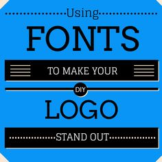 Different types of fonts are meant for different purposes. Here, we'll talk about 4 tips when choosing a font for your logo and brand communication: Serif or sans serif   #LynnFriedman #SmartReads #Fonts #StartUps #websites #education #business