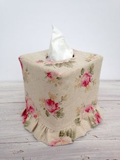 A personal favorite from my Etsy shop https://www.etsy.com/listing/234540761/shabby-chic-rose-ruffled-tissue-box