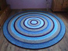 Large crochet round rug, 94, 5'' (240 cm)/Crochet Rug/Rugs/Rug/Area Rugs/Floor Rugs/Large Rugs/Handmade Rug/Carpet/Wool Rug by AnuszkaDesign on Etsy