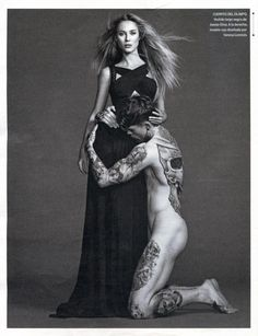 Moda en La Piel (El Pais Semanal) Stephen James and Vanessa Lorenzo