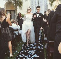 Andy Biersack and Juliet Simms-Biersack held the ultimate edgy wedding. By far, my favorite couple!
