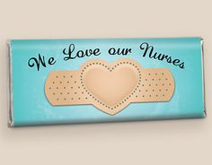 Nurses Day Chocolate Band Aid Candy Wrapper for Hersheys Bar
