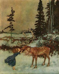 "snaakks: "" Edmund Dulac's illustration for Hans Christian Andersen's The Snow Queen, 1911 """