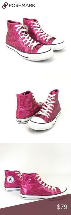 af0268e349 Converse All Star Hi Top Sneakers Pink Sequin 7/9 Converse All Star Hi Top