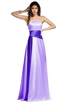 Dora Bridal Women Strapless Stain Evening Formal Dresses Size 12 US Lilac * Visit the image link more details. (This is an affiliate link)