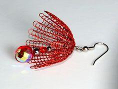 Umbrella wire crochet earring