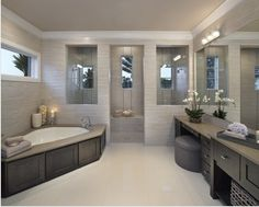 Grey and White modern Bathroom