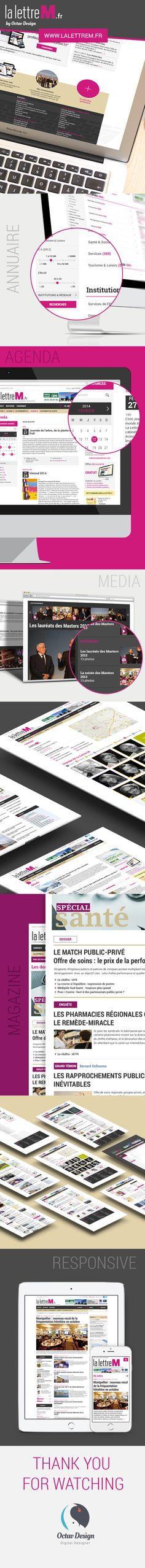 La lettre M webdesign #webdesign #responsive  #iphone #app #interface #flatdesign #menu #ux #ui #design #press