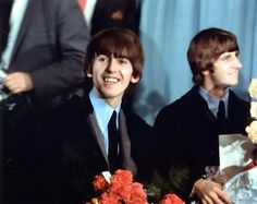 George Harrison and Richard Starkey George Beatles, The Beatles, Richard Starkey, Just Good Friends, Beatles Photos, The Fab Four, I Miss Him, Ringo Starr, George Harrison