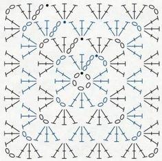 Blanket crochet graphic pattern