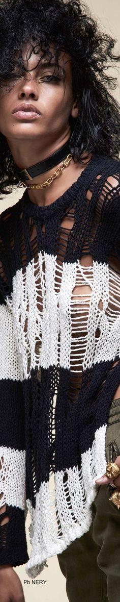 Pam & Gela Spring 2017 RTW Knit Fashion, Runway Fashion, Bohemian Style, Boho Chic, Pam & Gela, Spring Street Style, Black Pattern, Lana, Knitwear