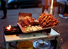 This is some food you eat at Feria Del Sol in Venezuela.