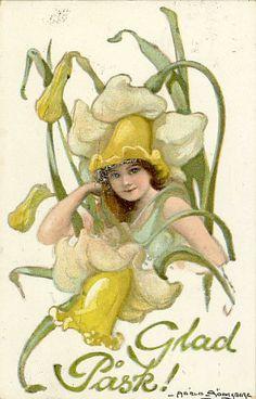 Vintage Swedish Easter greeting card (Illustration by Adele Söderberg)