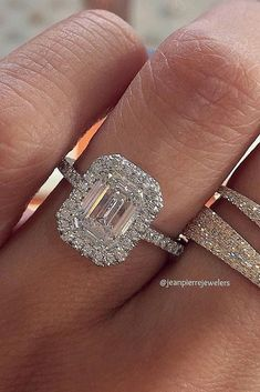 Eye-Catching Emerald Cut Engagement Rings ❤ See more: http://www.weddingforward.com/emerald-cut-engagement-rings/ #weddings #emeraldcutengagementrings