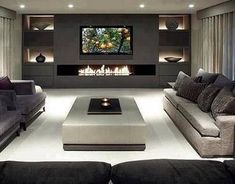 Awesome Living Room TV Wall Design Ideas 32