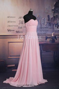 Aline Sweetheart Long Chiffon Dress