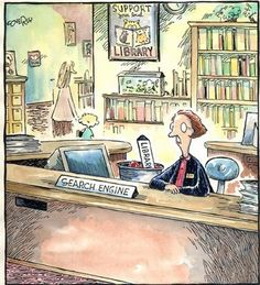 librarian at the desk