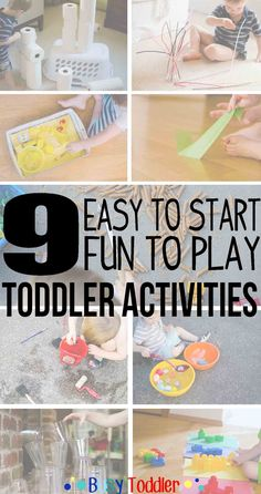 9 Quick and Easy Activities