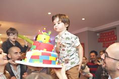Lego party Theme Parties, Party Themes, Lego, Cake, Food, Themed Parties, Food Cakes, Eten, Legos