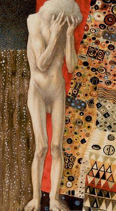 Gustav Klimt (July 1862 – February was an Austrian symbolist painter and one of the most prominent members of the Vienna Secession movement. Klimt is noted for his paintings, murals, s… Gustav Klimt, Alchemy Art, Vienna Secession, Tarot Major Arcana, Golden Retriever, Tarot Decks, Tarot Cards, The Fool, Art History