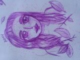 Purple ballpoint pen
