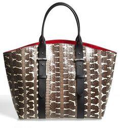 Alexander McQueen 'Medium Legend' Genuine Snake & Leather Shopper   <:>   @kimludcom