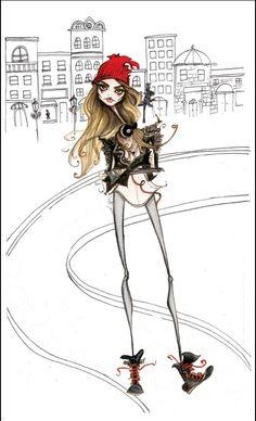 Caricatures d'icônes de la mode, Jamie Lee Reardin pour V Magazine - Boutique VIA UNO arrive à Paris - Le blog de Bettyboop - Be.com