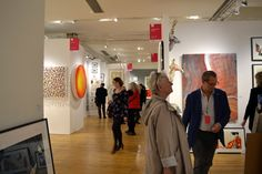 Lucette at the New York Affordable Art Show.