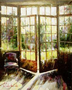 Masterpiece of Art: Gleb Goloubetski ~ Impressionist painter Dojo, Building Painting, Russian Painting, Light Painting, Aesthetic Photo, Painting Inspiration, Cool Art, Fun Art, Exterior