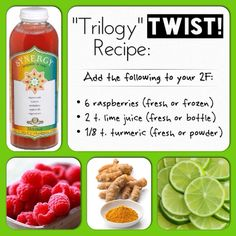 """Trilogy Twist!"" Raspberries, turmeric, and lime in your kombucha tea 2F makes for a tasty twist on a beloved classic. (Hey GT: Please make this flavor! :) http://www.ebay.com/itm/Curcumin-Blend-60-Count-/322482882728"