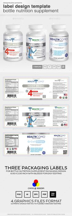 free template for business card psd nutrition dietary supplement - ingredient label template