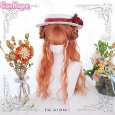 #kawaii #harajuku #harajukustyle #lolita #pastel #kawaiigrunge #kawaiilifestyle #grungestyles #aestheticpics #kawaii #harajuku Kawaii Hairstyles, Cute Hairstyles, Long Curly Hair, Curly Hair Styles, Curly Wigs, Kawaii Wigs, Lolita Cosplay, Cosplay Wigs, Anime Cosplay