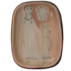 Pink - mother and child - Ceramic Bowl - Jacques Innocenti | 1stdibs.com