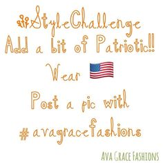 Let's do this for fun!!! #stylechallenge #patriotic #redwhiteblue #shopeville #shoplocal #shopsmall #havefunwithit