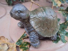 Turtle Tiny Stone  ooak Finish  Hand cast by MountainArtCasting, $23.95 This is the cutest little turtle! I love his work. Have several in my collection. I have to add this piece.