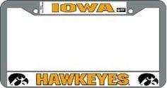 Iowa Hawkeyes Chrome License Plate Frame