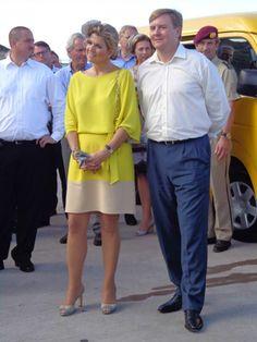 Dutch Royal visit King Willem Alexander & Queen Maxima, 14th of November 2013, Saba - Dutch Caribbean. Photo credit: Hanneke Magee   #Saba #Royal #Netherlands #Caribbean #WillemAlexander #Maxima