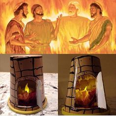 shares a craft they did based on the account of the 3 Hebrews who remained faithful despite being thrown in the furnace. Look closely and you can see them in the bottom right picture!
