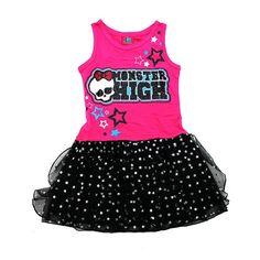 vestido dora infantil, transado, roupas transadas, roupa infantil,VESTIDO CRÂNIO MONSTER HIGH