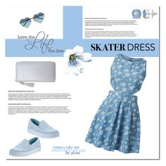 """""""Summer Style: Cutout Skater Dress"""" by aneetaalex ❤ liked on Polyvore"""
