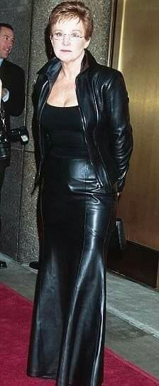 Hard on! in leather mature woman the