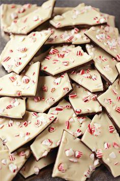 Raining peppermint bark! #barkyeah Christmas Candy, Christmas Desserts, Holiday Treats, Christmas Treats, Christmas Baking, Christmas Cookies, Holiday Recipes, Christmas Recipes, Christmas Time