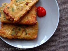 Just Try & Taste: Tempe Mendoan? Tempeh, Tofu, Tempe Recipe, Tempe Mendoan, Tempe Goreng, Indonesian Cuisine, Grubs, Quiche, Side Dishes