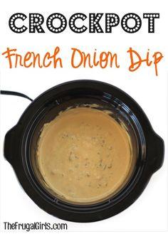 Crockpot French Onion Dip Recipe at TheFrugalGirls.com