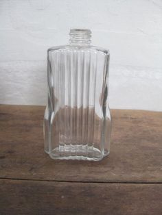 Your place to buy and sell all things handmade Antique Glass Bottles, Apothecary Bottles, Antique Glassware, Vintage Perfume Bottles, Bottle Art, Clear Glass, Pepper, Vintage Items, Glass Vase
