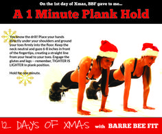 It s the barre bee fit 12 days of xmas challenge do it at home or on