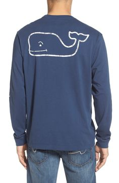 New Vineyard Vines Pocket Long Sleeve T-Shirt ,GREY fashion online. [$48]wooclo top<<
