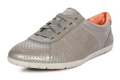Clarks Illya hopeanharmaat nahkatennarit 79 e - silver grey sneakers