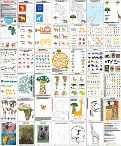 """Тематический комплект """"Африка"""" Комплект с очень интересными разнообразными заданиями для детей от 3 до 5 лет."""